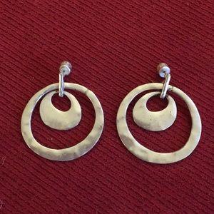 Kenneth Cole Silver-Tone Hoop Earrings
